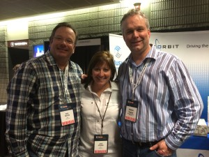 Aaron Taylor with Julie Stevens, PD and Nate Deaton GM of MusicMaster client KRTY-San Jose